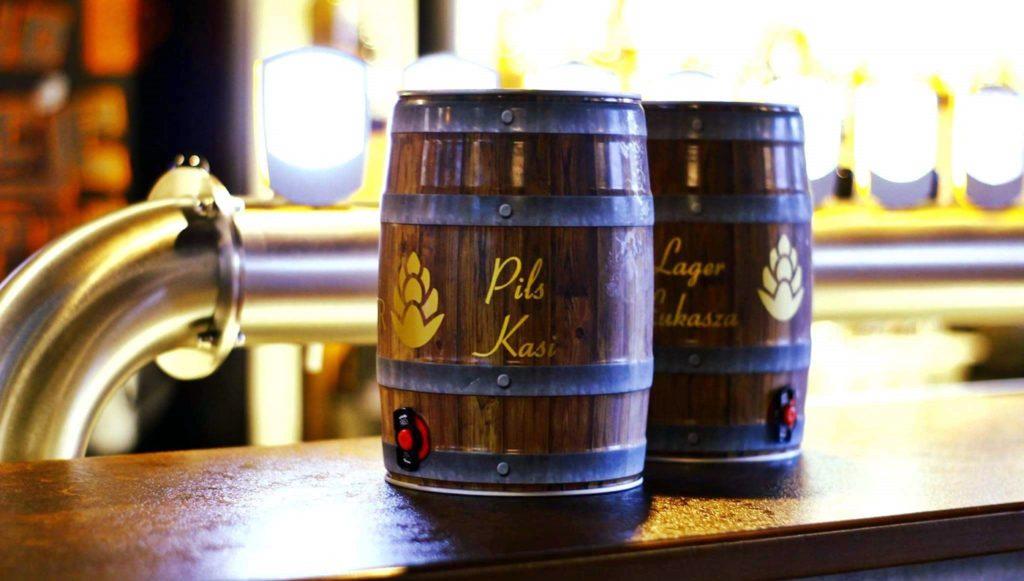 beczki z piwem Browar Wiatr 5l